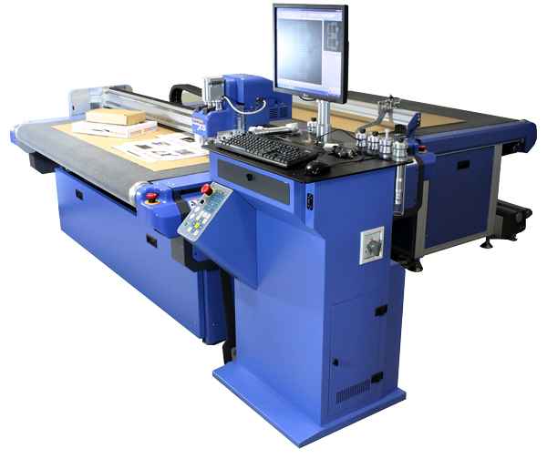 Digital Cutting Table for Packaging - DYSS X5 with packaging materials
