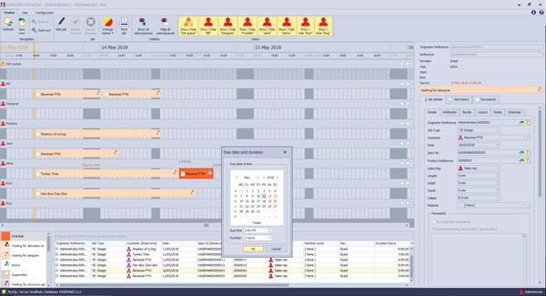 digital cutting workflow - calendar view